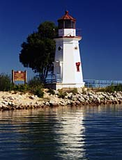Lighthouse at the mouth of the Cheboygan River.